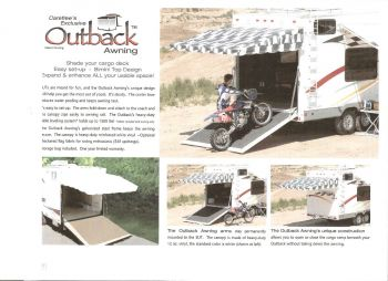Outback Awning By Carefree ZN0102F Checkered Flag Print